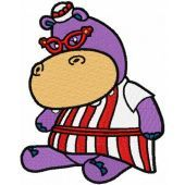 Hallie Hippo embroidery design 9