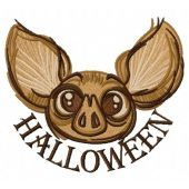 Halloween bat machine embroidery design 3