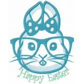 Happy Easter Bunny free embroidery design