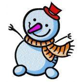 Happy snowman machine embroidery design 4