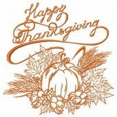 Happy thanksgiving my harvest embroidery design