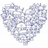 Heart of the city machine embroidery design 3