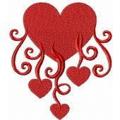 Heart with hearts embroidery design