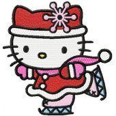 Hello Kitty Christmas Dance embroidery design