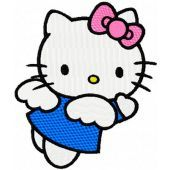 Hello Kitty Happy Angel embroidery design