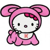 Hello Kitty Baby embroidery design