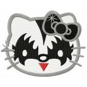 Hello Kitty KISS fan embroidery design
