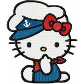 Hello Kitty Marine Suit embroidery design