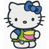 Hello Kitty Master Cook embroidery design