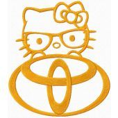 Hello Kitty Toyota logo
