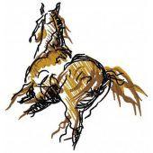 Horse mascot machine embroidery design 3