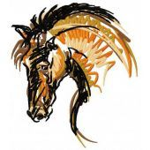 Horse mascot machine embroidery design