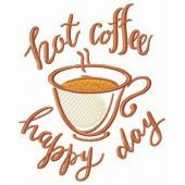 Hot coffee for happy day