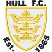 Hull City AFC logo machine embroidery design