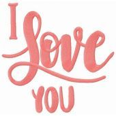 I love you embroidery design 2