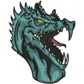 Ice dragon machine embroidery design