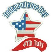 Independence day embroidery design 2