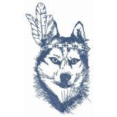 Indian wolf embroidery design 3