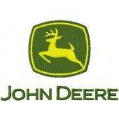 John Deere logo embroidery design