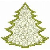 Lace fir tree machine embroidery design 2