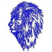 Lion machine embroidery design 2