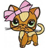 Kitty Littlest Pet Shop embroidery design