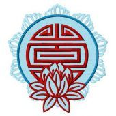 Lotus embroidery design 2