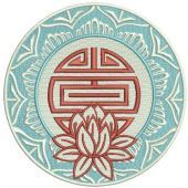 Lotus machine embroidery design