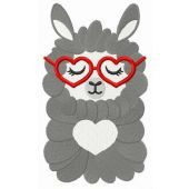 Lovely llama embroidery design