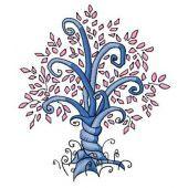 Magic tree machine embroidery design 5