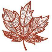 Maple leaf machine embroidery design