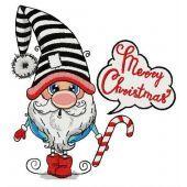 Merry Christmas surprised gnome