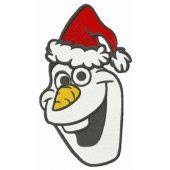 Merry X-mas Olaf embroidery design
