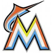 Miami Marlins Logo machine embroidery design