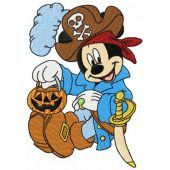 Mickey Mouse pirate costume machine embroidery design