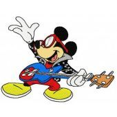 Mickey Mouse rock star machine embroidery design