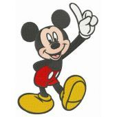 Mickey number one embroidery design
