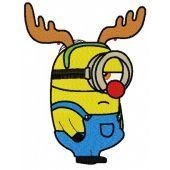 Minion in deer costume machine embroidery design