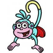 Monkey - Dora's Friend embroidery design