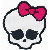 Monster High logo 2 machine embroidery design
