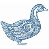 Mosaic duck machine embroidery design