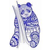 Mosaic panda embroidery design 3