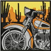 Retro Vintage Moto Racing label machine embroidery design