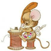 Mouse writing letter