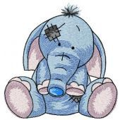My cute elephant machine embroidery design