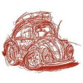 My lovely automobile embroidery design