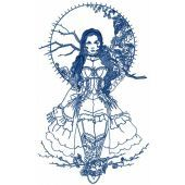 Mysterious Girl embroidery design
