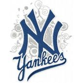 New York Yankees modern logo machine embroidery design