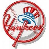 New York Yankees logo embroidery design 2