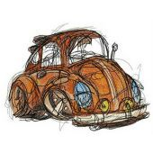 Old brown automobile